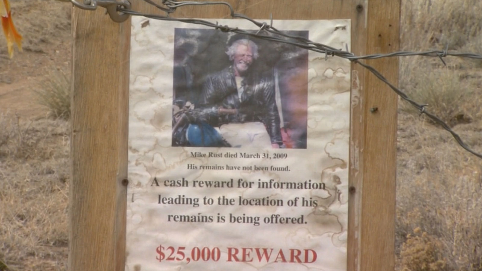 A missing poster for Mike Rust (credit: CBS)
