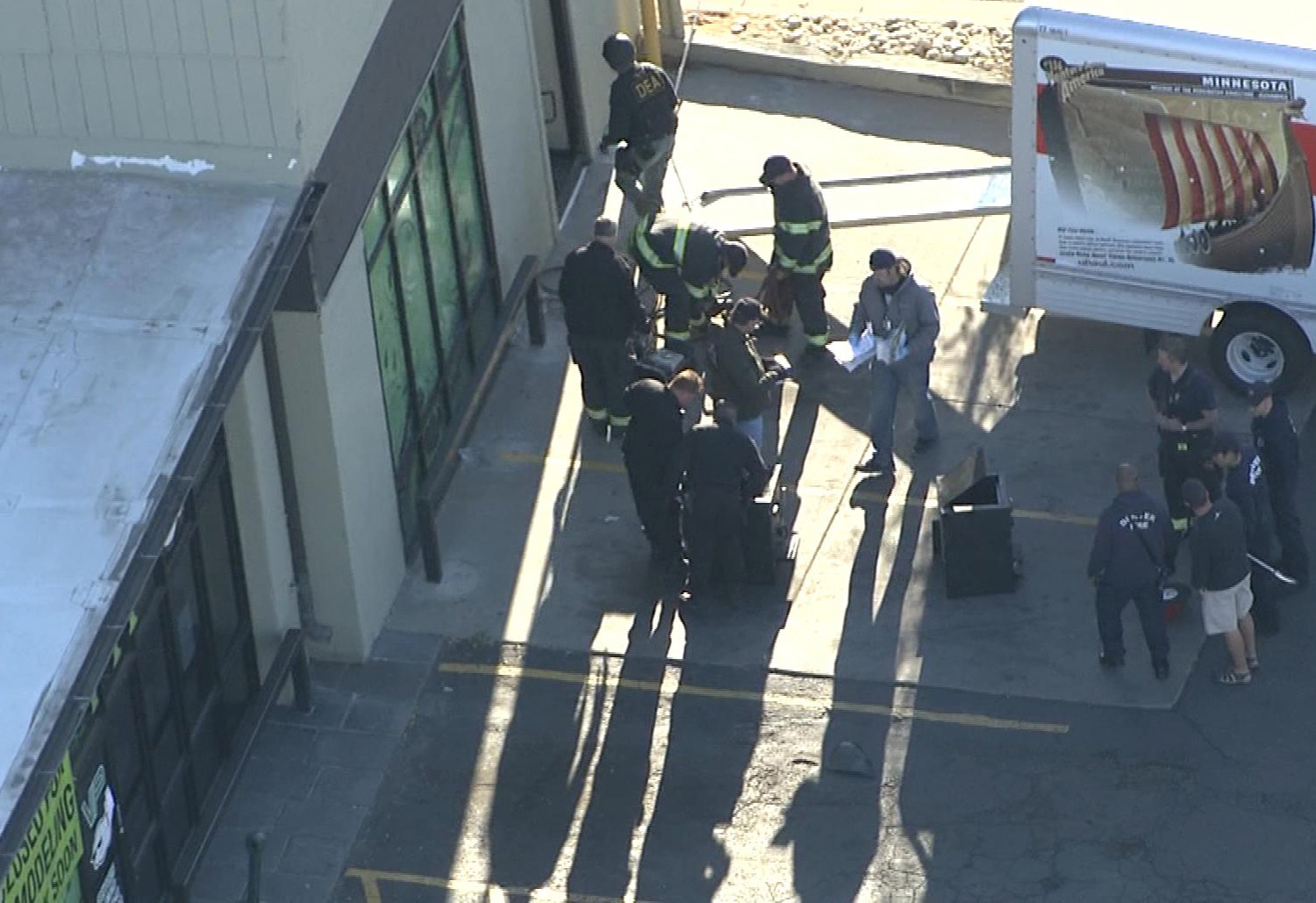 Raid at VIP Cannabis (credit: CBS)