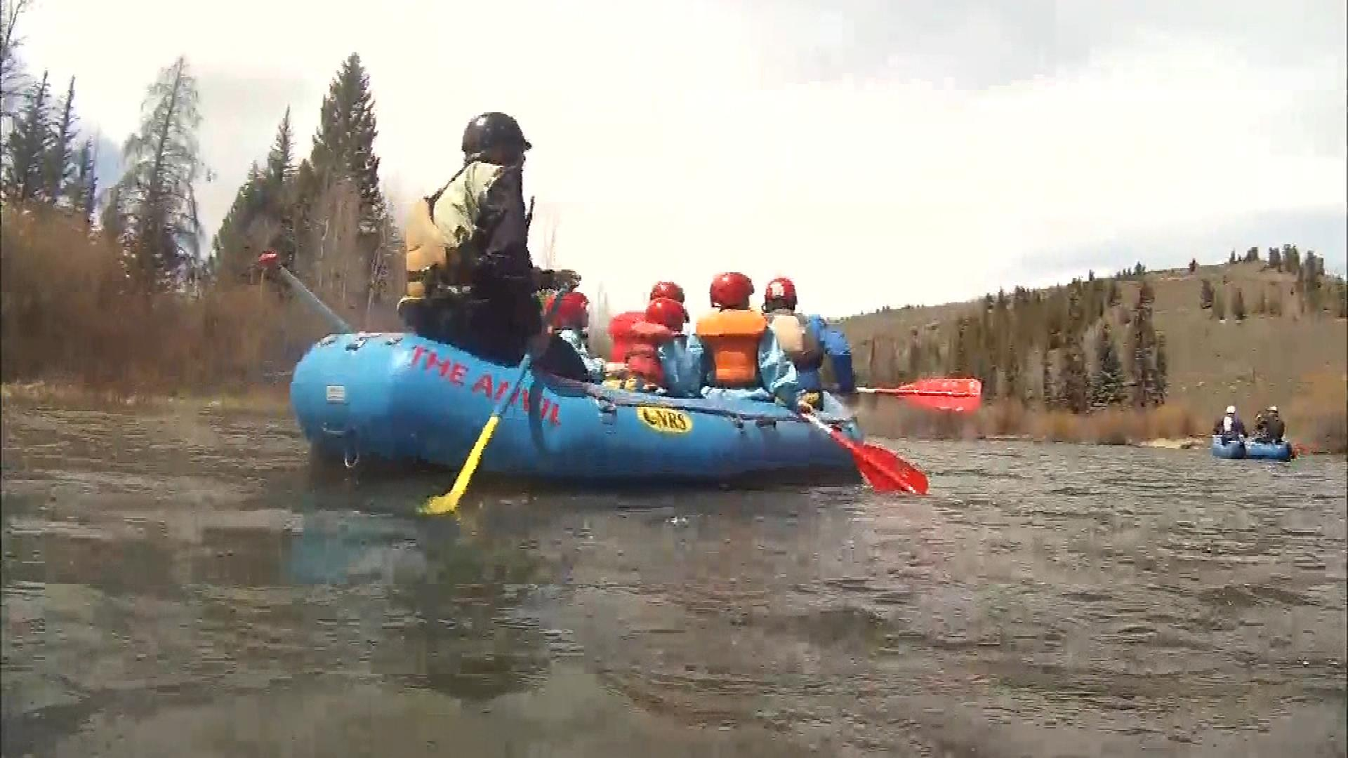 Rafting on the Blue River in April (credit: CBS)