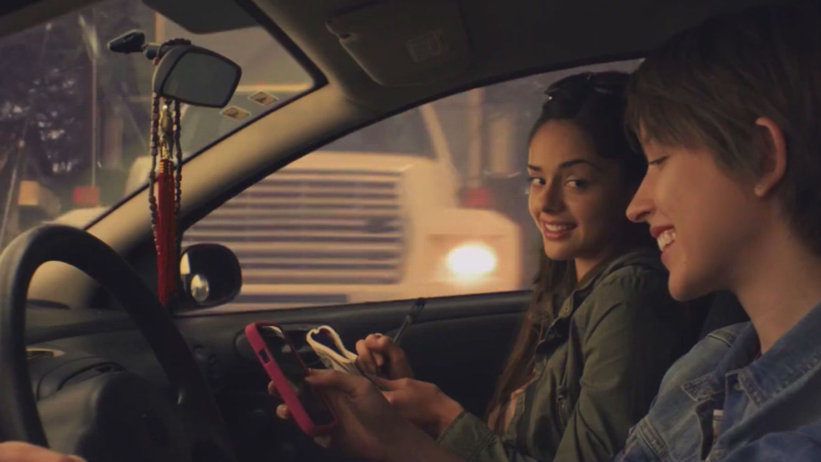 A national TV ad campaign aimed at preventing texting and driving (credit: CBS)
