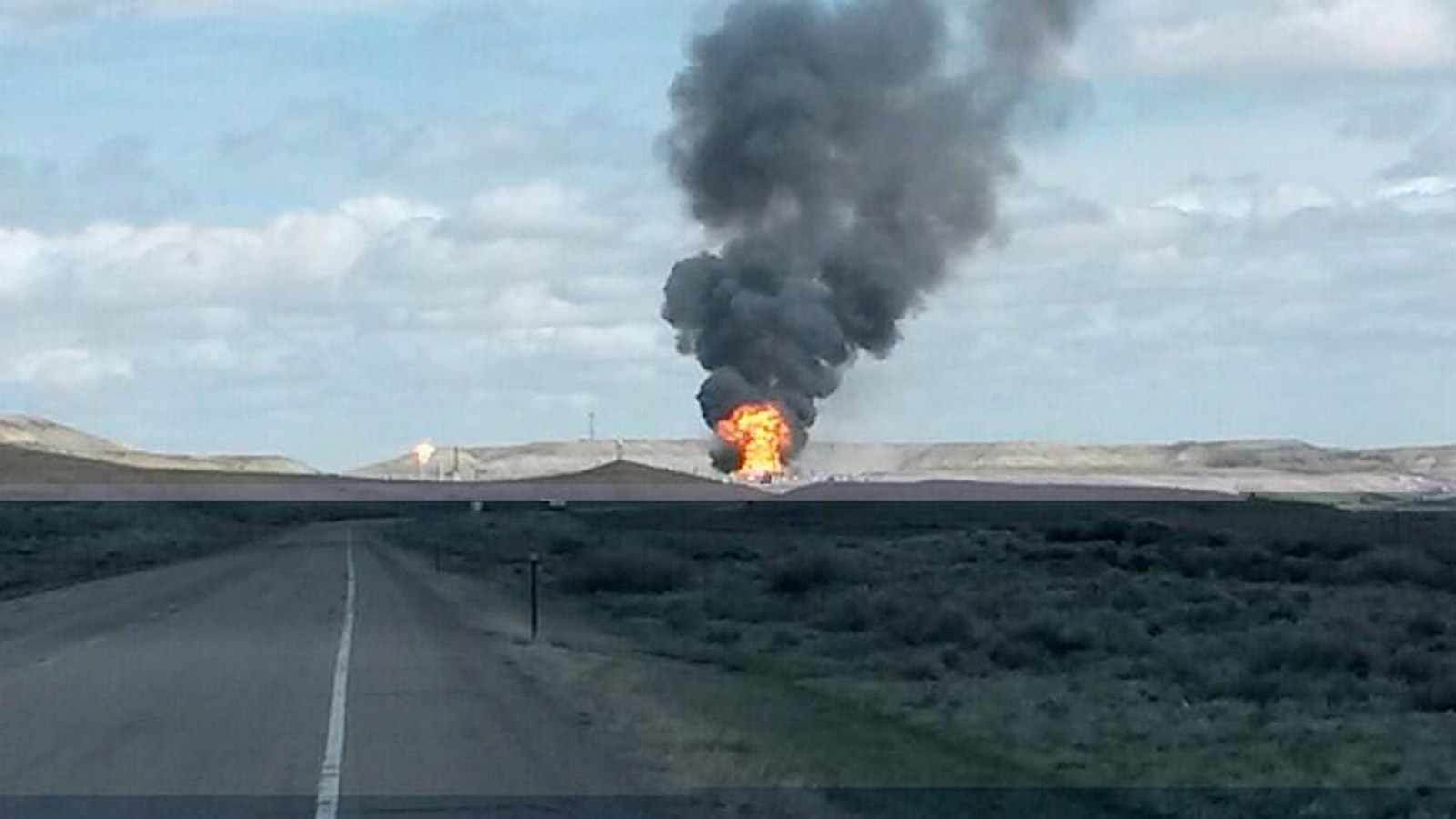 A natural gas explosion in Opal, Wyoming (credit: Rachel Anderson)