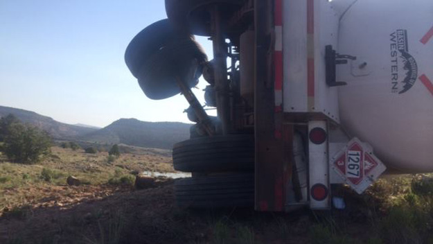 An image of the tanker (credit: San Miguel County Sheriff)