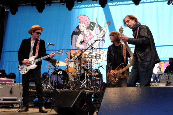 Jakob Dylan and his band The Wallflowers perform during CBGB Music & Film Festival 2013 at Times Square  on October 12, 2013 in New York City.  (Photo by Bryan Bedder/Getty Images for CBGB)