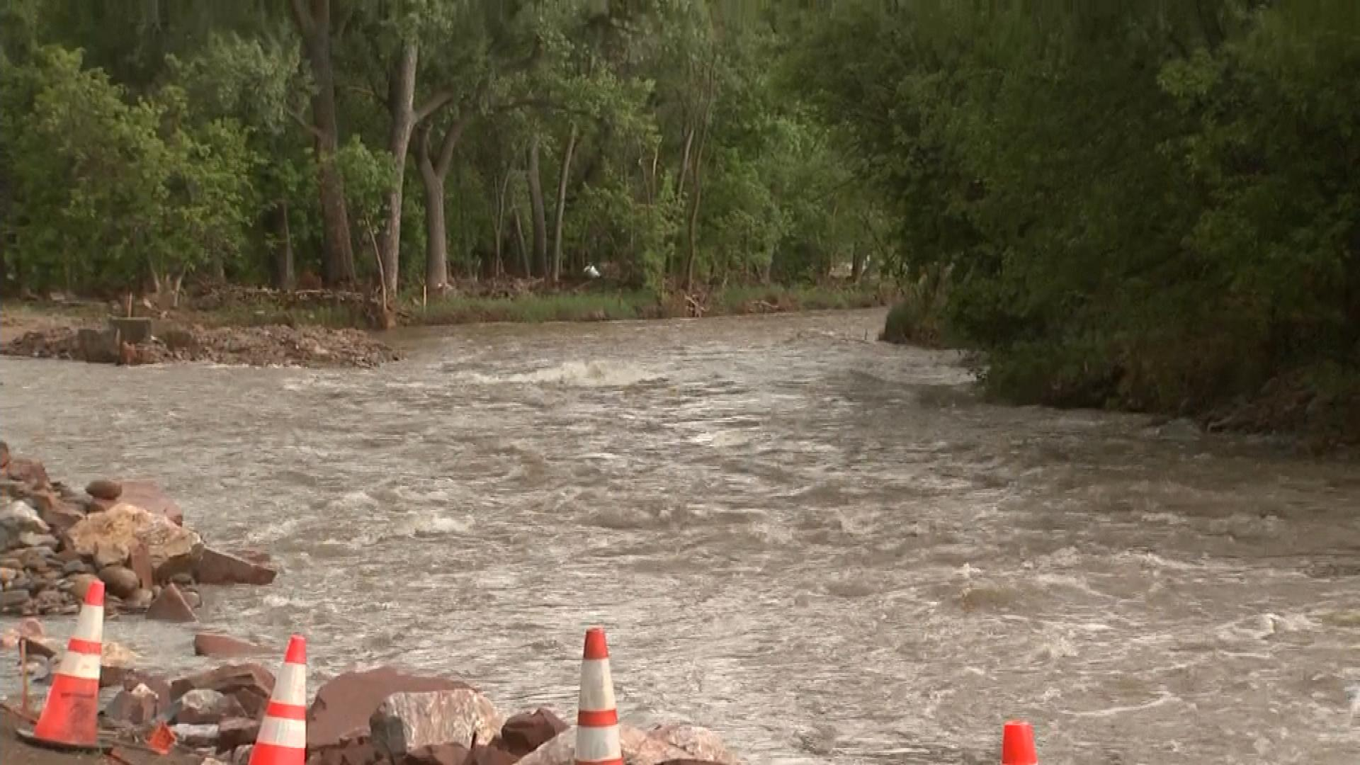 Boulder Creek in Lyons on Friday (credit: CBS)