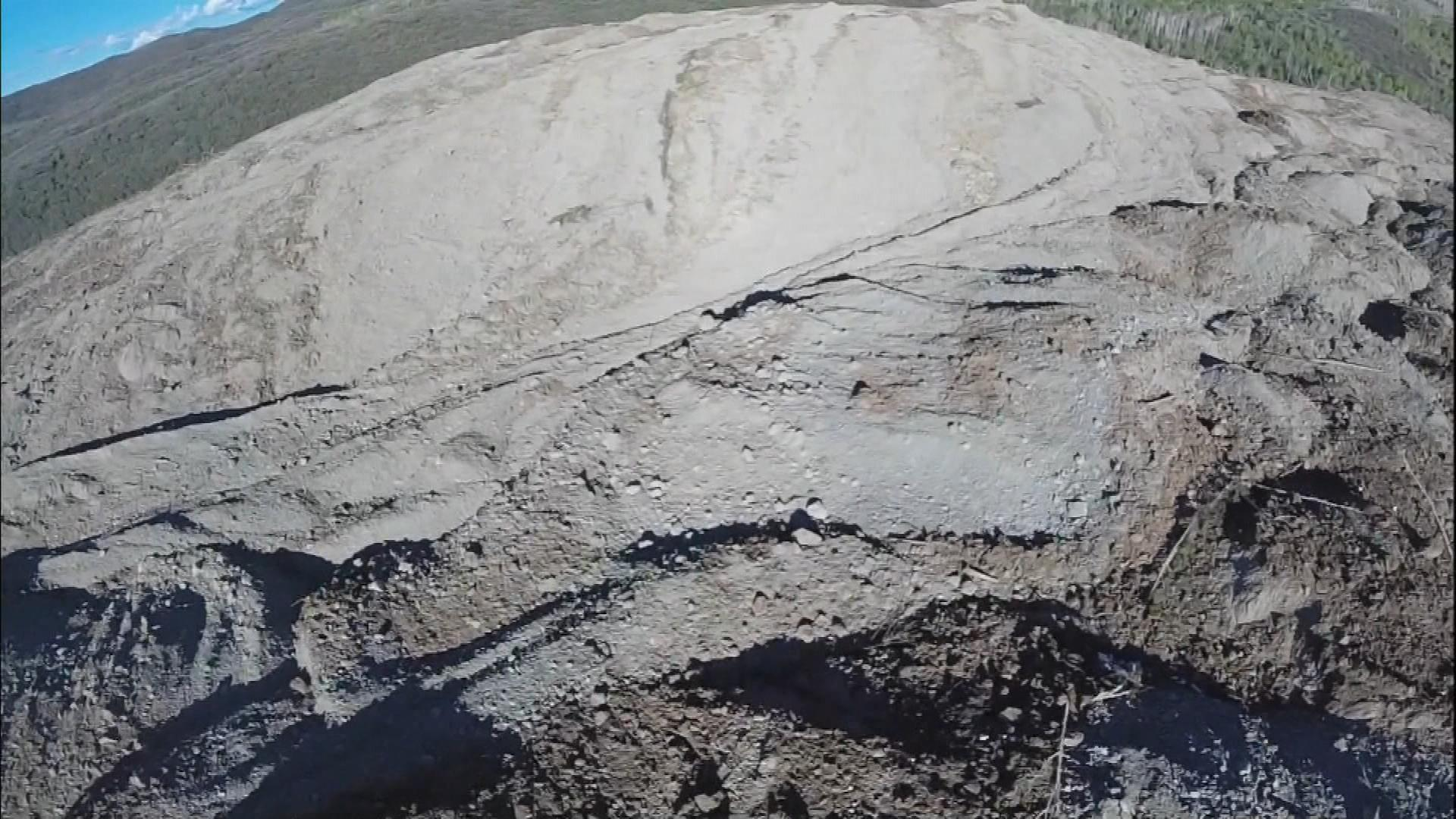 An image from a drone of the Grand Mesa landslide (credit: CBS)