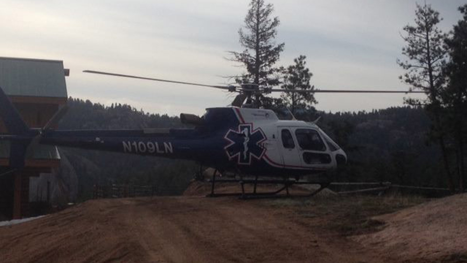 A helicopter joined the search for Nicholas Coates (credit: Jeffco Sheriff)