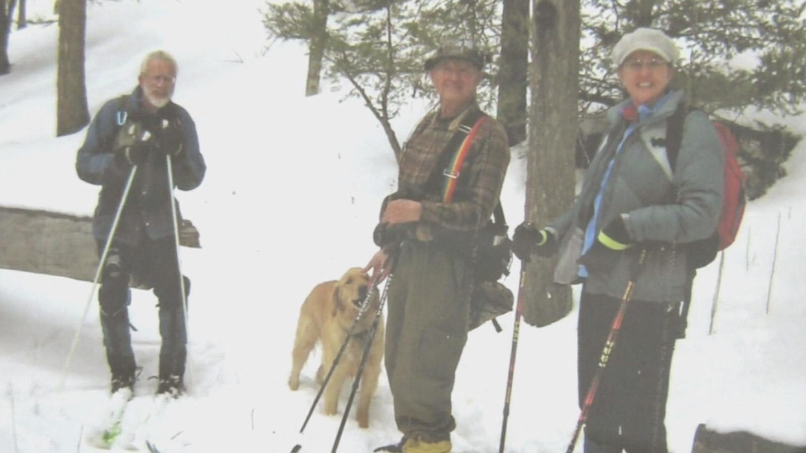 Robert Blake, Buddy and skiing friends (credit: Blake Family)