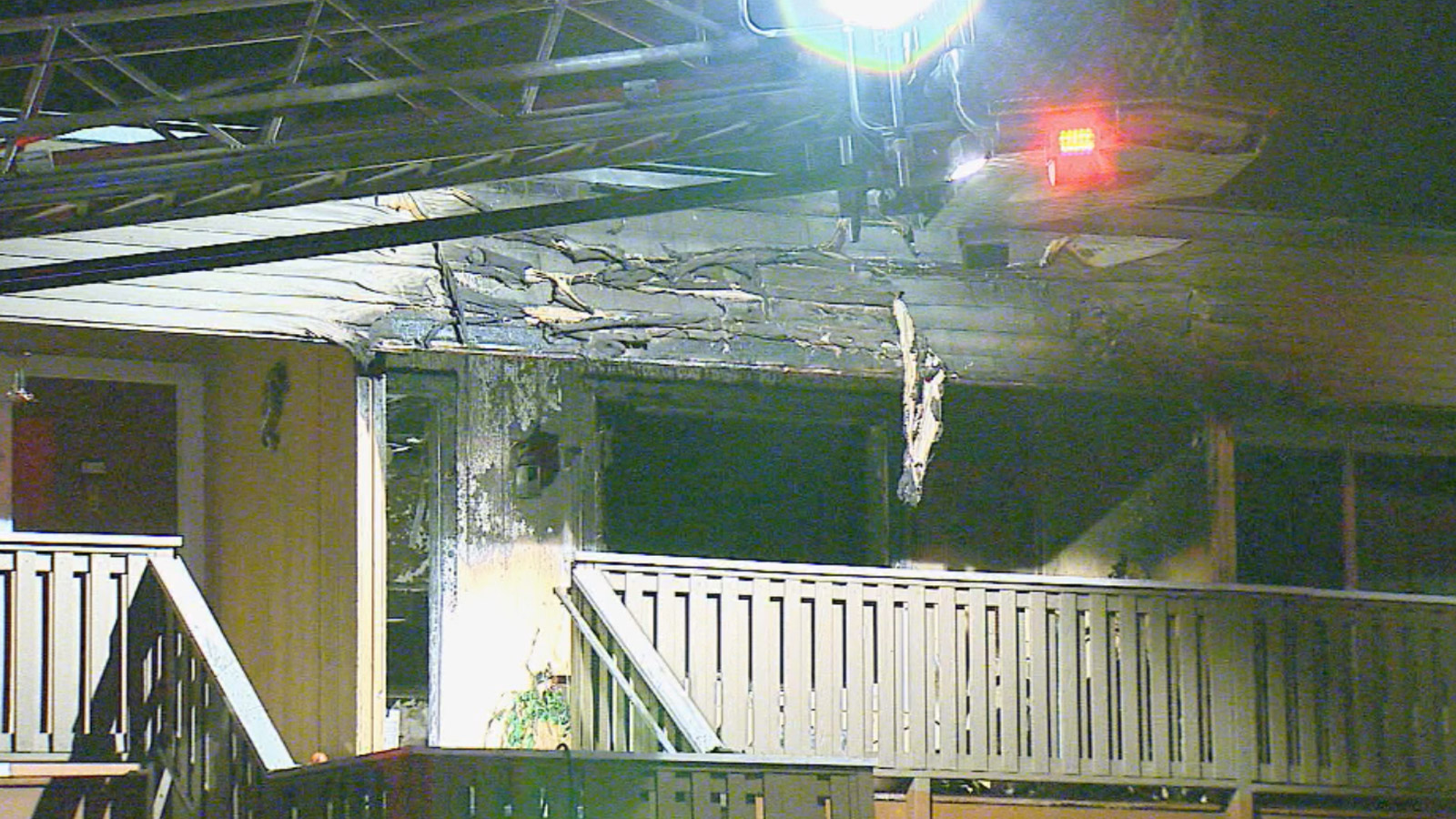 Aurora Firefighters believe arson is to blame for a condo fire on S. Sable (credit: CBS)