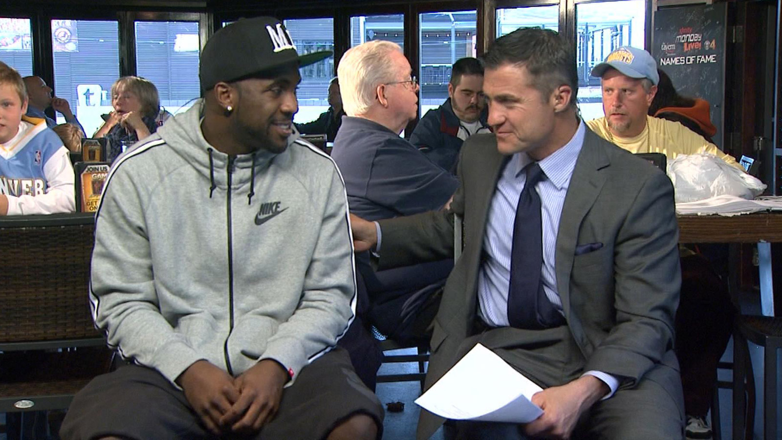 Ty Lawson and Vic Lombardi on Xfinity Monday Live (credit: CBS)