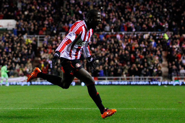 SUNDERLAND, ENGLAND - DECEMBER 04: Jozy Altidore of Sunderland celebrates his goal during the Barclays Premier League match between Sunderland and Chelsea at the Stadium of Light on December 4, 2013 in Sunderland, England.