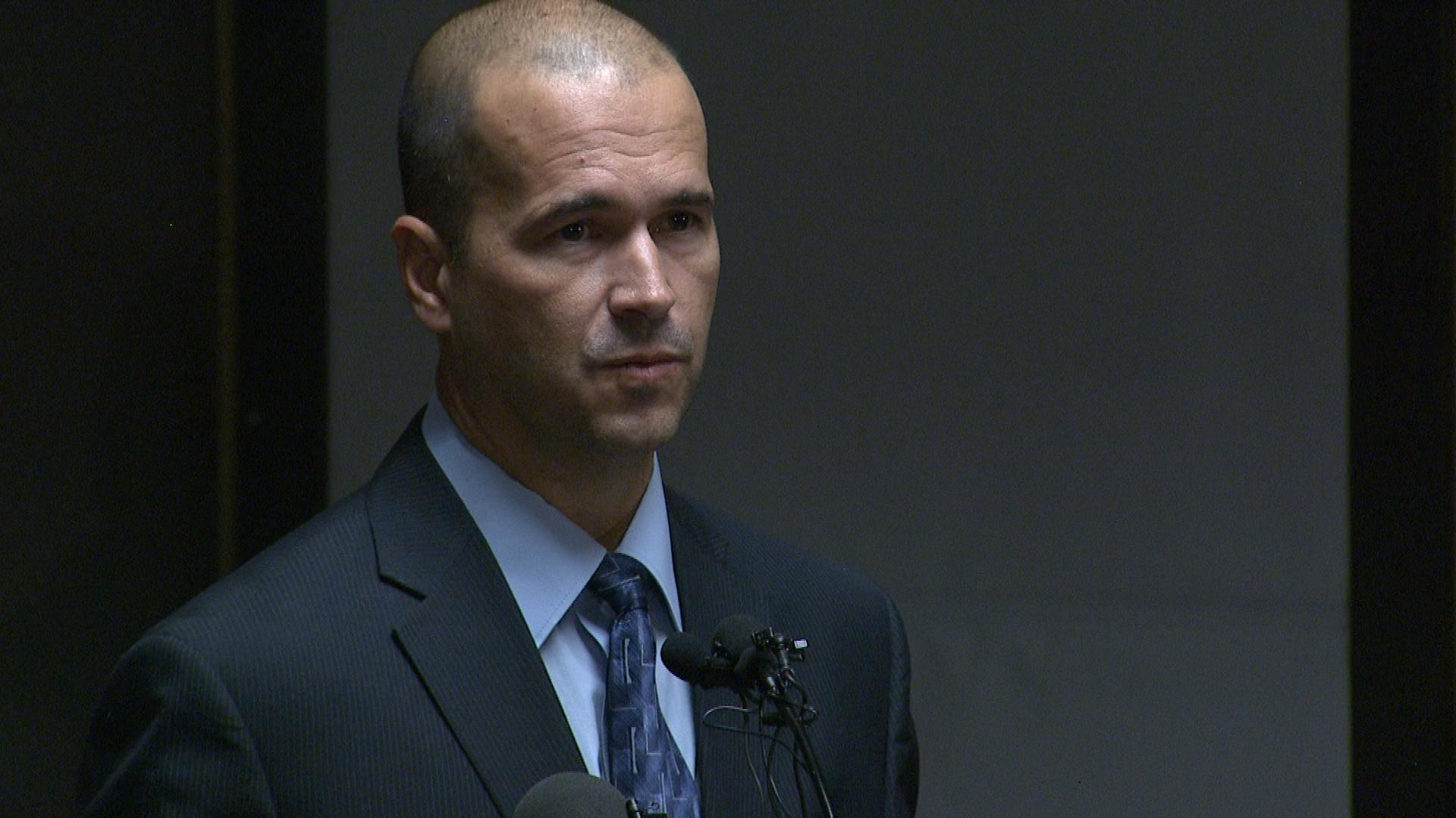 El Paso County Sheriff Terry Maketa at the news conference on Tuesday (credit: CBS)