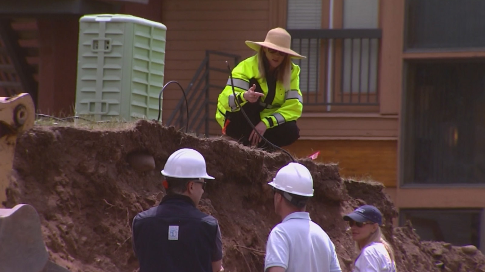 Human remains were discovered at a construction site in Vail (credit: CBS)
