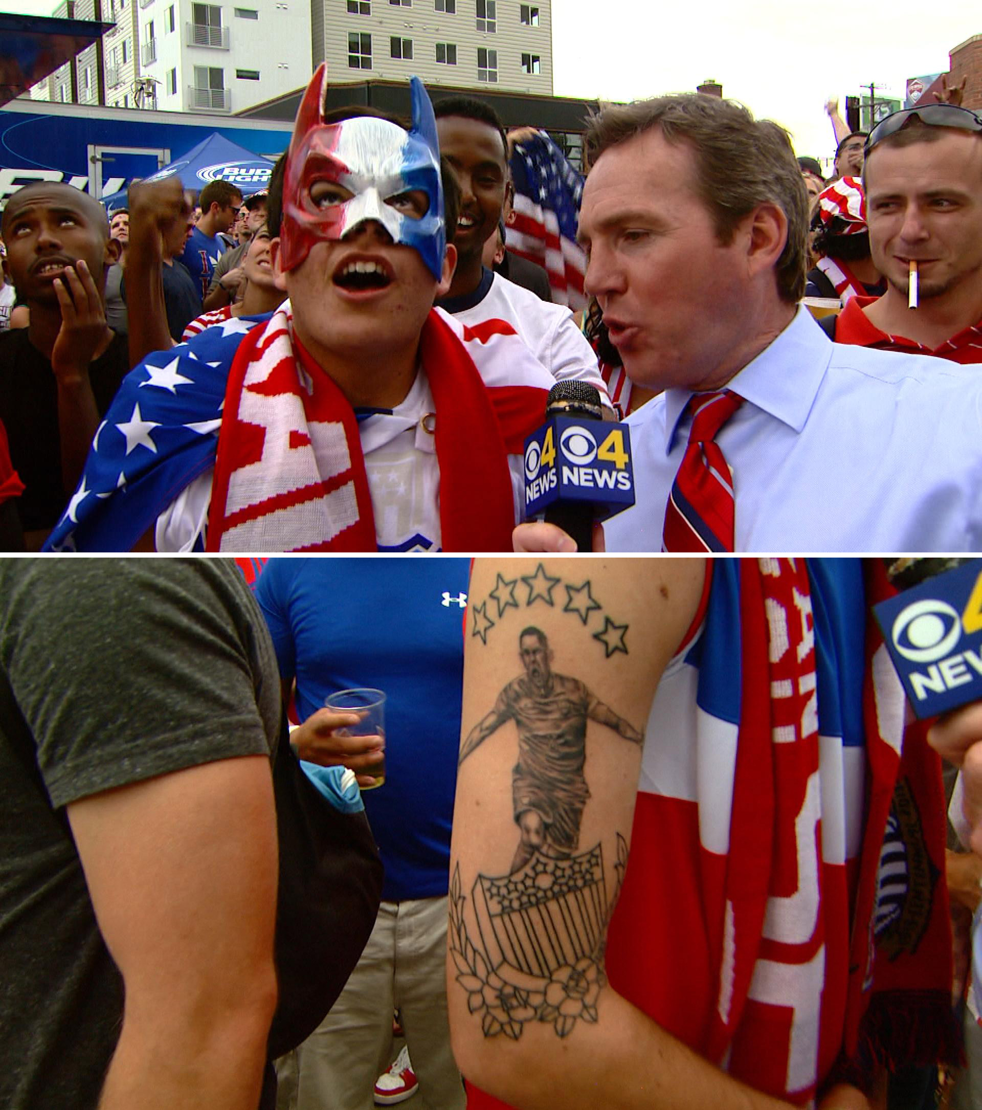 World Cup fans show their pride. (credit: CBS)