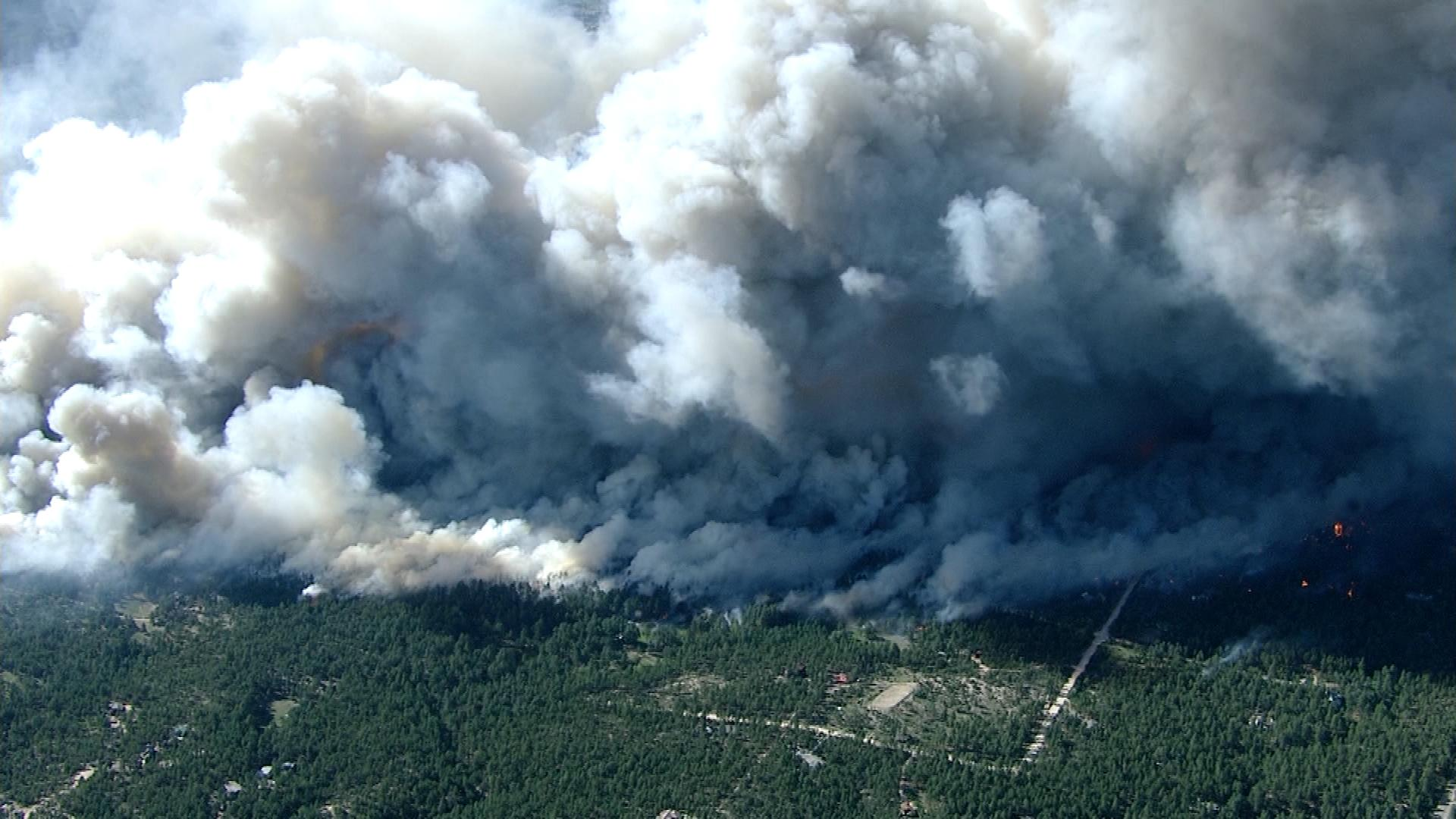 A wildfire in Washington state (credit: CBS)