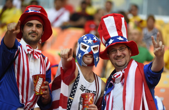 US fans cheer before a Group G football match between USA and Portugal (credit: ODD ANDERSEN/AFP/Getty Images)