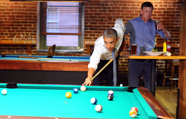 President Barack Obama played Gov. John Hickenlooper