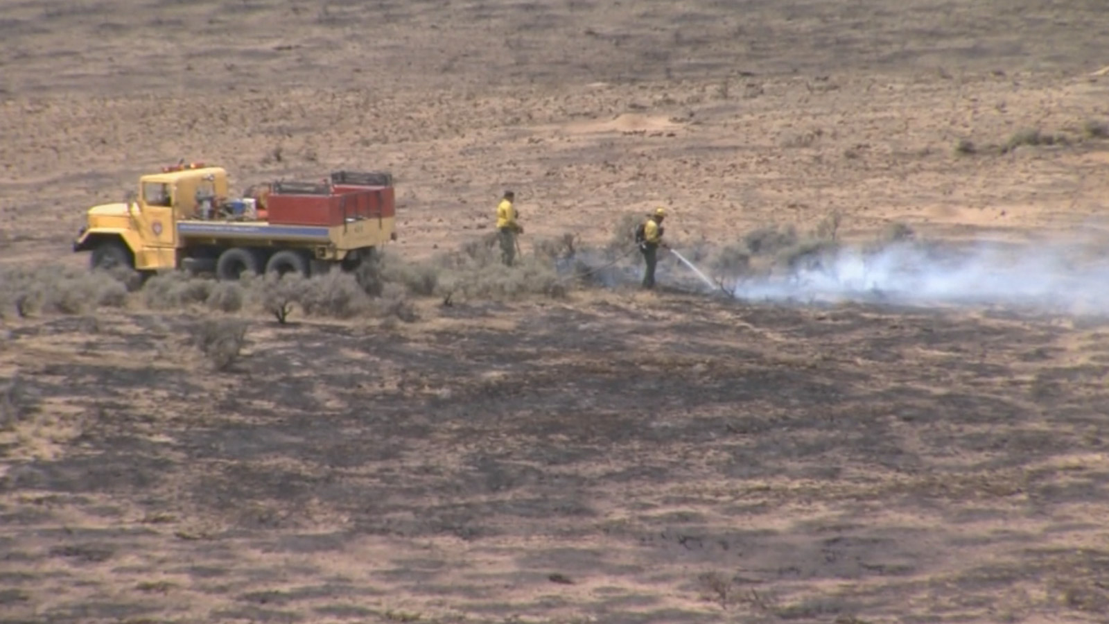 The Alkali Fire burning in Moffat County (credit: CBS)