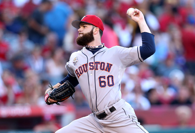 ANAHEIM, CA - JULY 04:  Dallas Keuchel #60 of the Houston Astros throws a pitch against the Los Angeles Angels of Anaheim at Angel Stadium of Anaheim on July 4, 2014 in Anaheim, California.