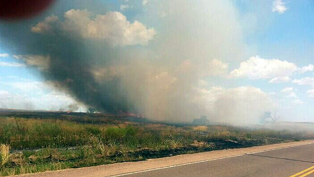 One of the fires in Weld County (credit: Brighton Fire Department)