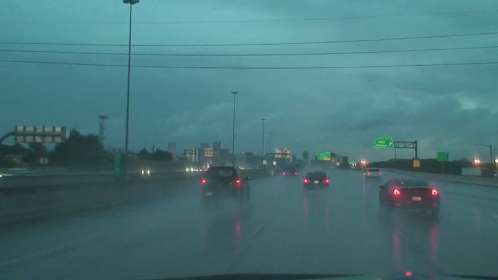 The Mobile Weather Lab tracks rain in the Denver metro area on Wednesday (credit: CBS)