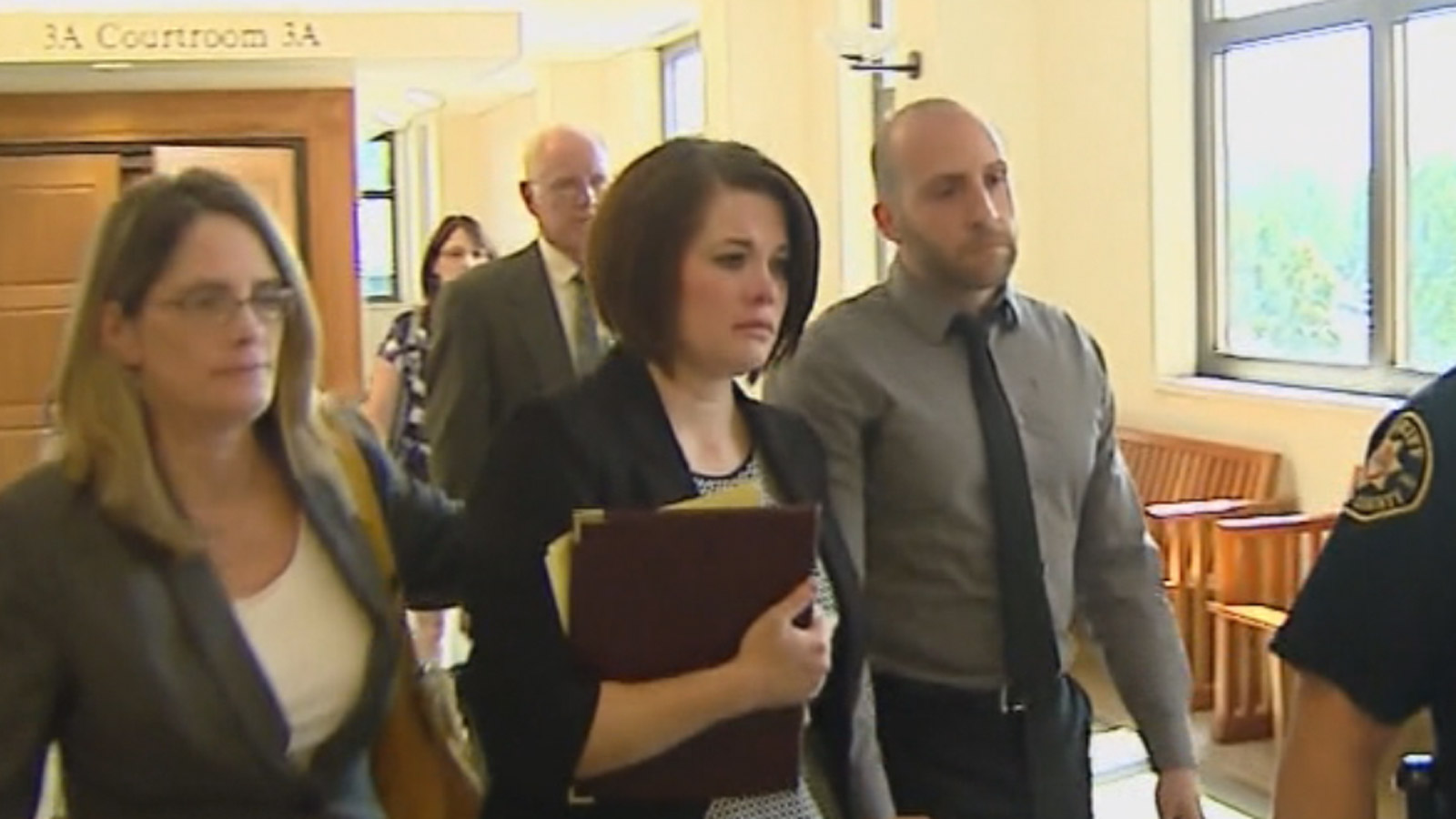 Theresa O'Connor leaves the Larimer County Courtroom (credit: CBS)