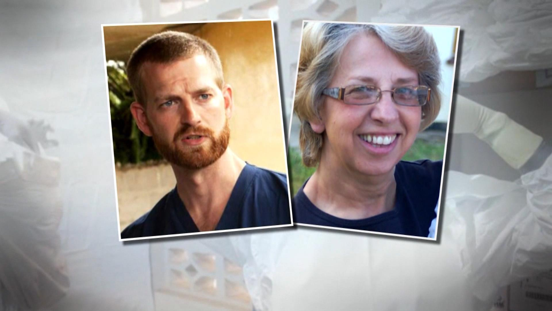 Dr. Kent Brantly and Nancy Writebol (credit: CBS)