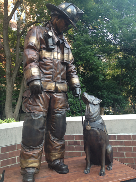 The sculpture at the National Fire Dog Monument (credit: americanhumane.org)