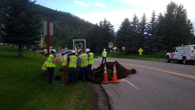 The scene on Aug. 6 in Vail (credit: Suzanne Silverthorn)