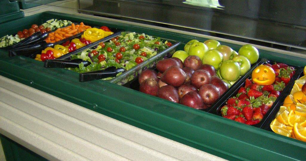 In Denver schools, students can eat as much as they want at the fruit and veggie bar. (credit: Denver Public Schools)