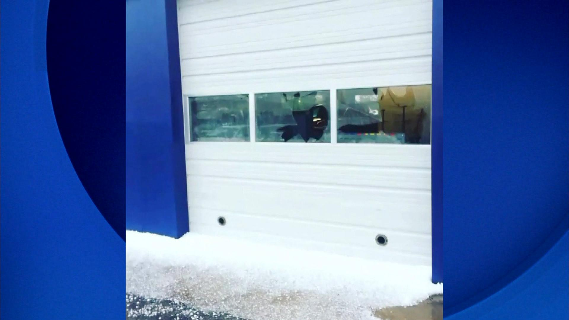 Hail damage at the Arapahoe Hyundai dealership (credit: Arapahoe Hyundai)