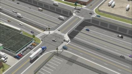 An artist's representation of the proposal (credit: CDOT)