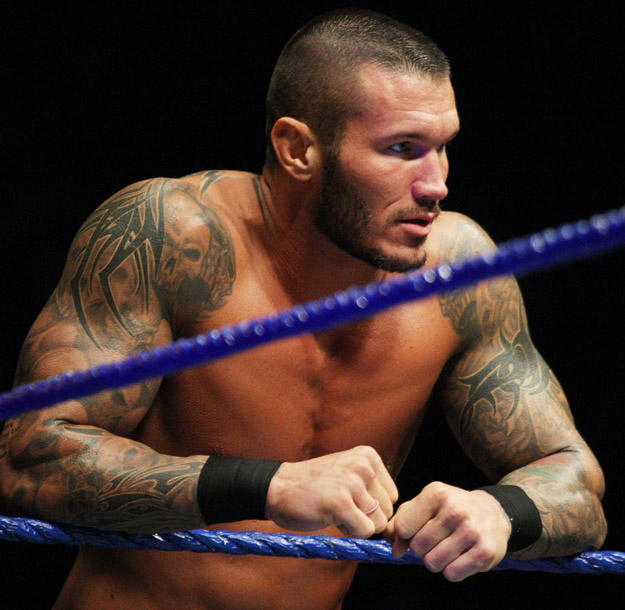 DURBAN, SOUTH AFRICA - JULY 08:  World Heavyweight Champion Randy Orton during the WWE Smackdown Live Tour at Westridge Park Tennis Stadium on July 08, 2011 in Durban, South Africa.