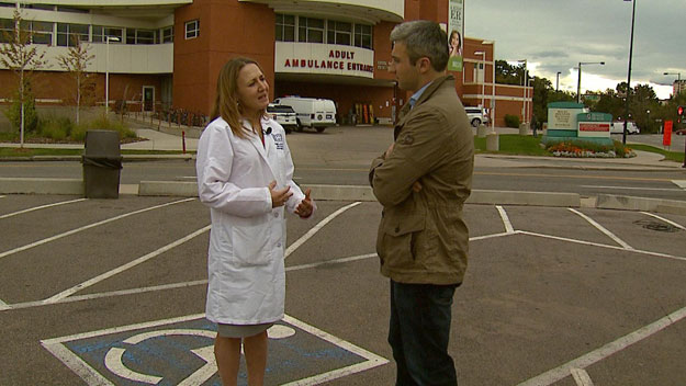 CBS4's Stan Bush talks with Dr. Connie Price, Division Chief of Infectious Diseases at Denver Health Medical Center (credit: CBS)