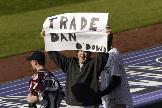 Even in 2002, fans called for O'Dowd's ouster. (Photo by Brian Bahr/Getty Images)