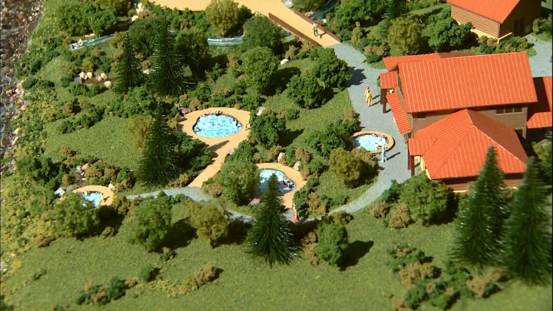 A model of the new hot springs (credit: CBS)