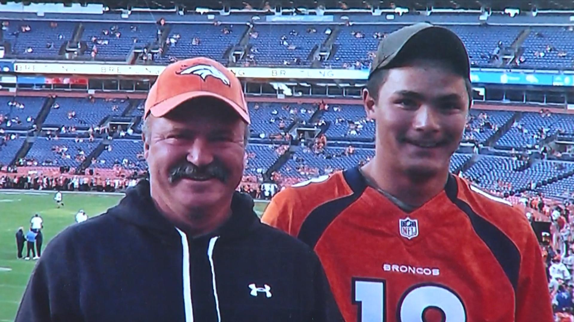 Paul Kitterman, left, with his stepson (credit: CBS)
