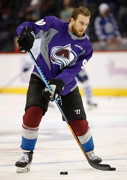 Ryan O'Reilly #90 of the Colorado Avalanche warms up prior to facing the Toronto Maple Leafs at Pepsi Center on November 6, 2014 in Denver, Colorado.  (Photo by Doug Pensinger/Getty Images)