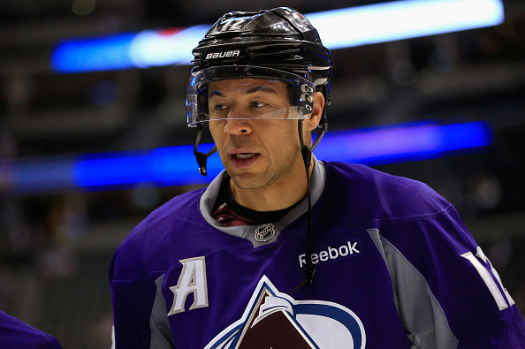Jarome Iginla of the Avalanche warms up at Pepsi Center on Nov. 6, 2014 (credit: Doug Pensinger/Getty Images)
