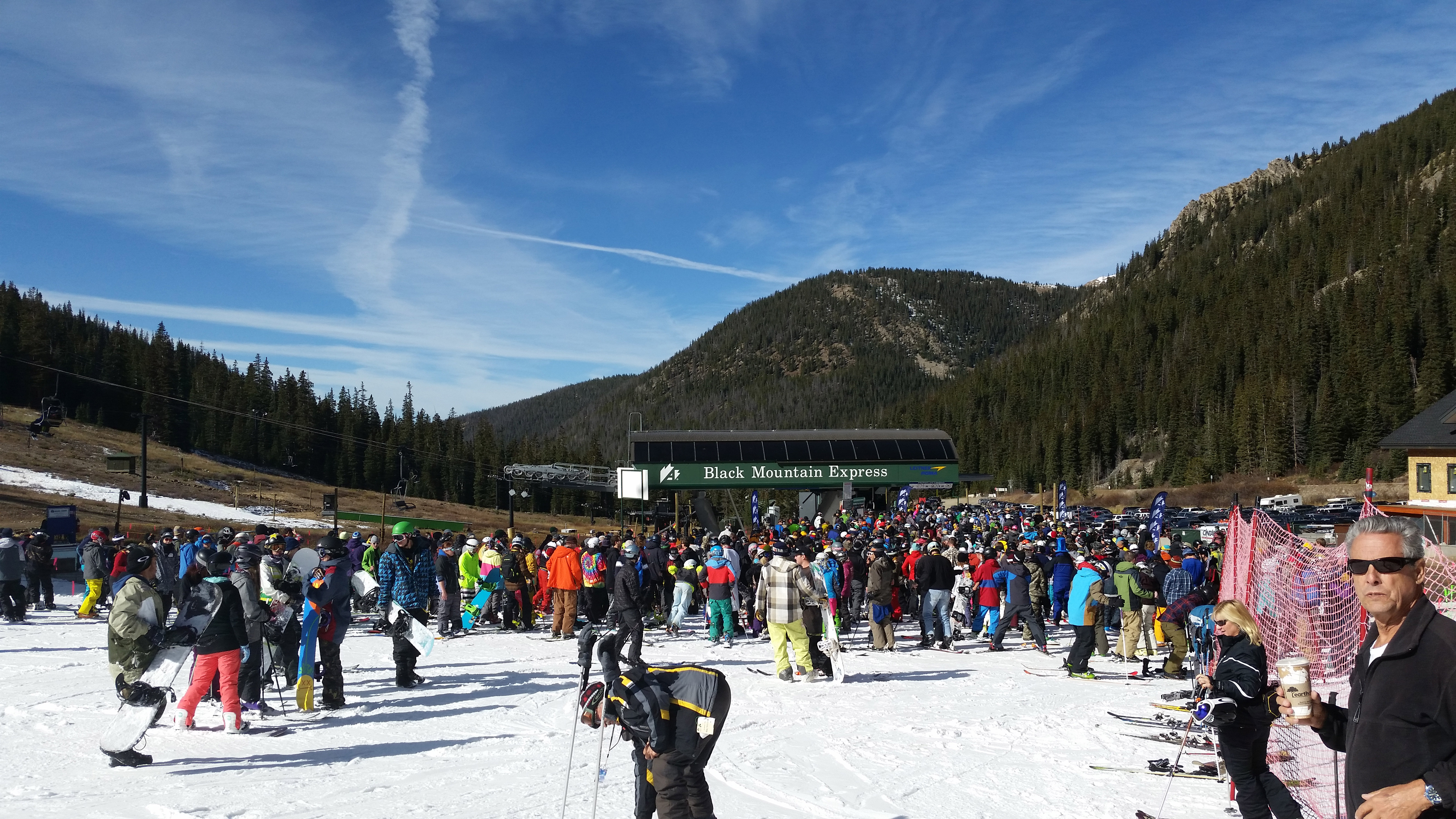 Opening day at A Basin (credit: CBS)