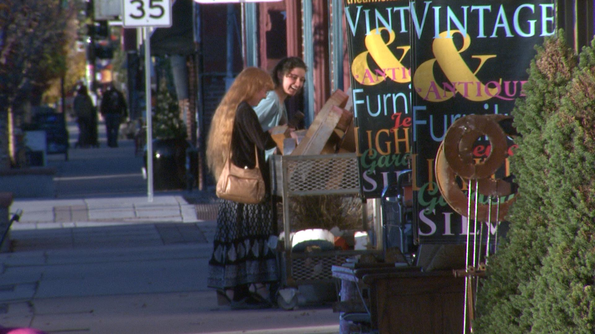 Antique shopping on Broadway (credit: CBS)