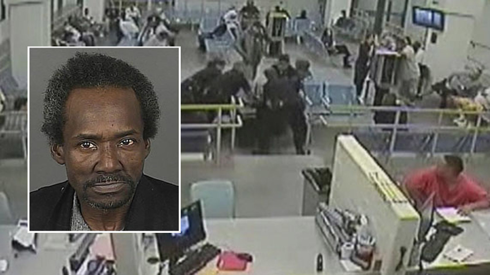Images from the security video showing Marvin Booker's death (credit: CBS)