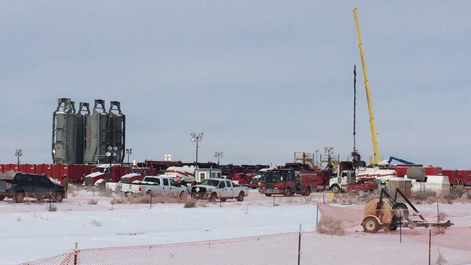The fracking site in Weld County where one person died. (credit: CBS)
