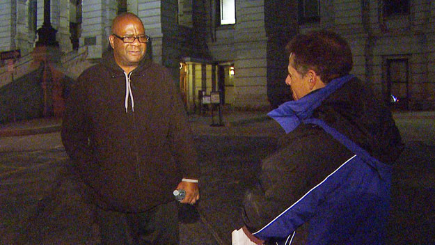 Denver civil rights activist Alvertis Simmons talks with CBS4's Howard Nathan (credit: CBS)