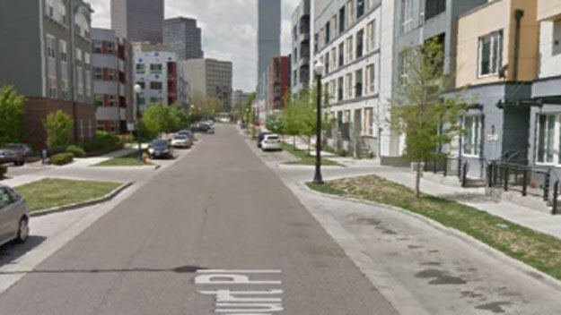 The area where the assault occurred (credit: Denver Police Department)