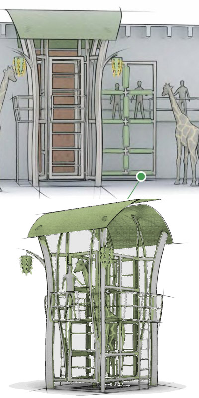 An artist's conception of the SNUGG device (credit: Denver Zoo)
