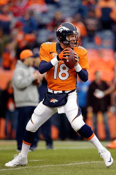 Peyton Manning at Sports Authority Field at Mile High on Jan. 11, 2015. (credit: Ezra Shaw/Getty Images)