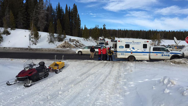 The scene on Rabbit Ears Pass Sunday afternoon (credit: Jeff Todd)