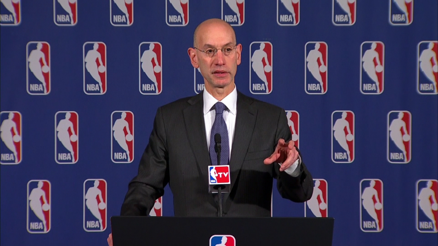 NBA commissioner Adam Silver (credit: CBS)