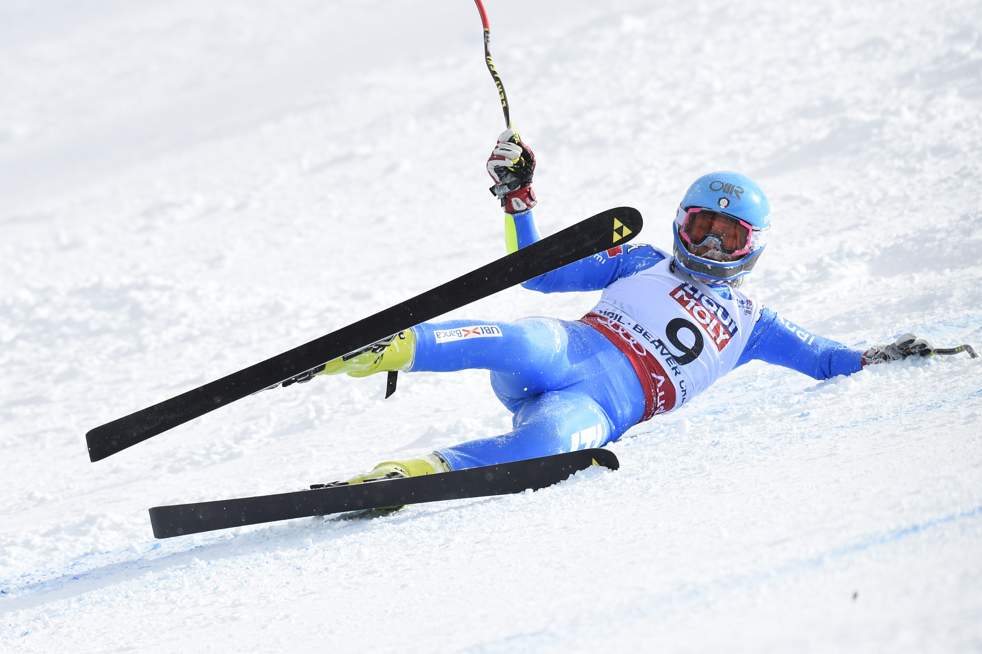 Daniela Merighetti of Italy crashes out during the FIS Alpine World Ski Championships Women's Super G on February 03, 2015 in Beaver Creek, Colorado. (Photo by Alain Grosclaude/Agence Zoom/Getty Images)