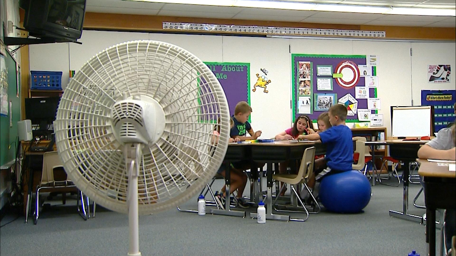 Air conditioning out at a school in Fort Collins (credit: CBS)